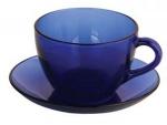 Чайная пара синяя прозрачная 235 мл