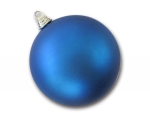 Шар пластиковый синий матовый