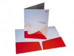 Бумажные папки с логотипом
