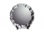 Тарелка металлическая фигурная 25 см