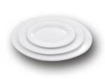 Тарелка овальная белая
