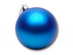 Шар пластиковый синий глянец
