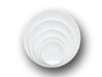 Тарелка круглая белая