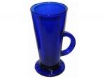Кружка синяя стеклянная 290 мл