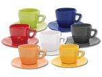 Чайная пара цветная с квадратной чашкой 200 мл