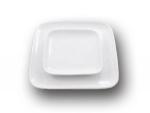 Тарелка белая квадратная
