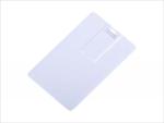 Флешка визитка KR08 белая