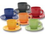 Чайная пара керамика цветная 200 мл П